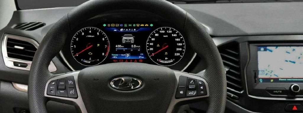 цифровая приборная панель Lada